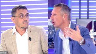 Juan Carlos Monedero durante su tertulia con Joaquín Prat en Cuatro...