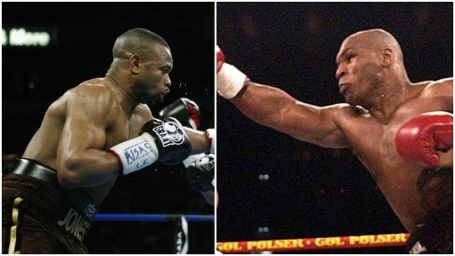 Roy Jones Jr y Mike Tyson.