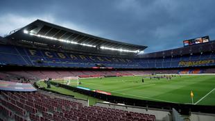 Camp Nou, tras el regreso del fútbol por la pandemia de coronavirus.