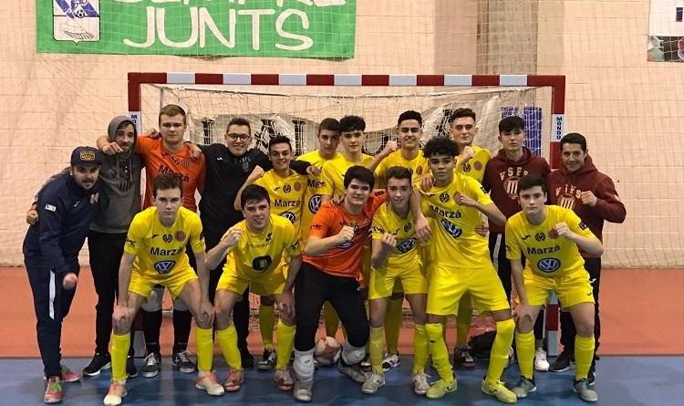El equipo juvenil del Vila-Sports FS.