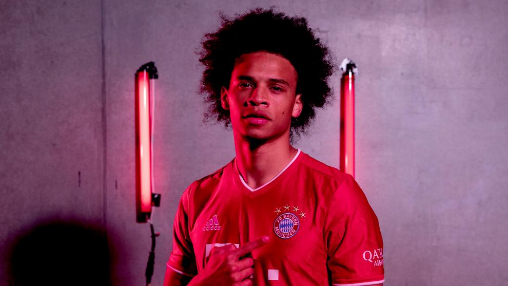 MUNICH, GERMANY - JULY 02: Newly signed FC Bayern Muenchen player Leroy lt;HIT gt;Sane lt;/HIT gt; poses for a picture at Saebener Strasse training ground on July 02, 2020 in Munich, Germany. (Photo by M. Donato/FC Bayern via Getty Images)