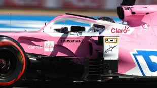 Nico Hülkenberg, con el Racing Point RP20, en los Libres 1 de Gran...