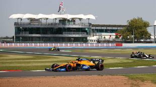Carlos Sainz, durante los entrenamientos del Gran Premio de Gran...