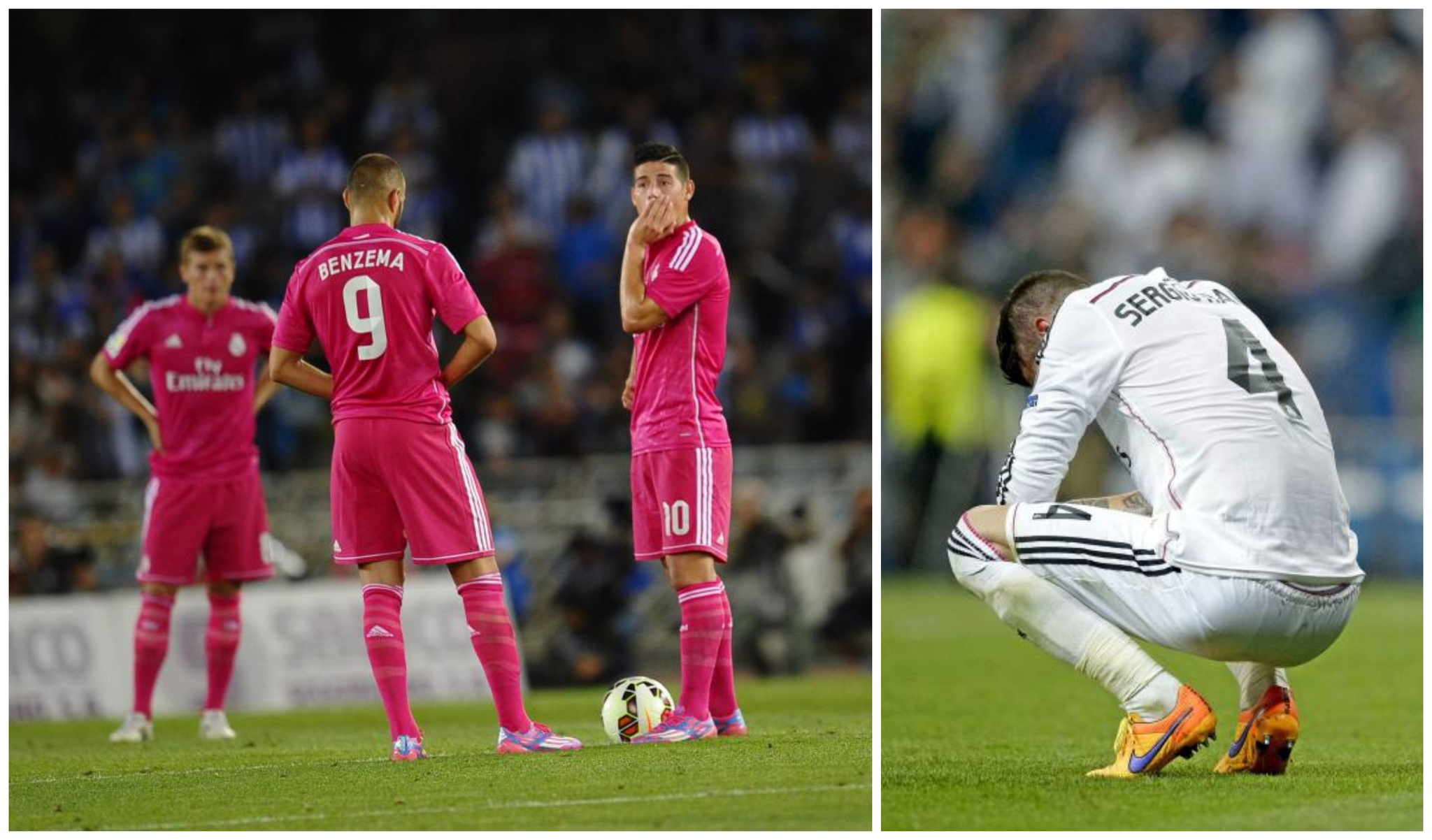 Real Madrid ignore the bad omen that comes with a pink shirt