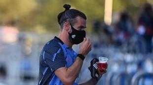Gareth Bale, durante un partido del Madrid en el DI Stéfano