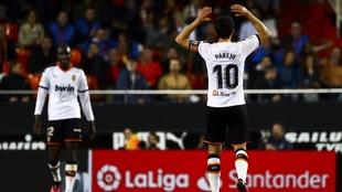 Dani Parejo en un partido con el Valencia. MARCA