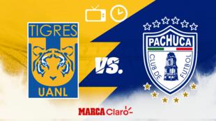Tigres vs Pachuca: Horario y dónde ver.