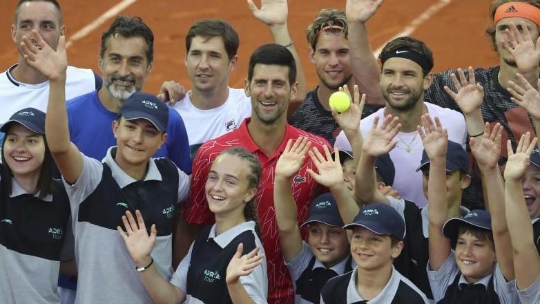 Novak Djokovic, en un acto del polémico Adria Tour