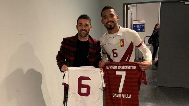 Yangel Herrera and David Villa