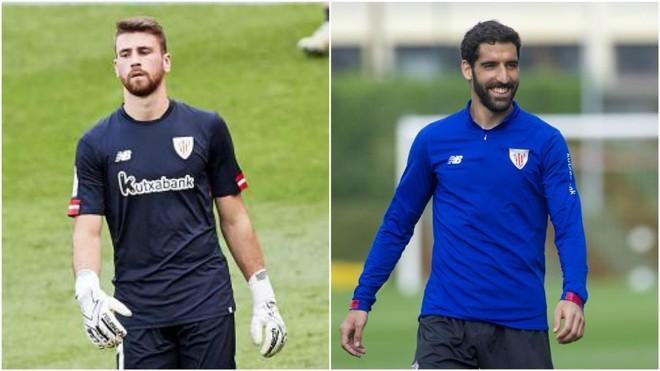 Unai Simón y Raúl García.