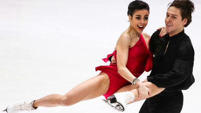 Sara Hurtado y Kirill Jalyavin, durante el último Europeo de patinaje...
