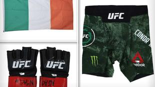 Los guantes y los 'shorts' usados por McGregor en su última...