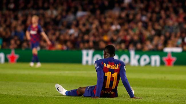 Ousmane Dembélé cae lesionado.