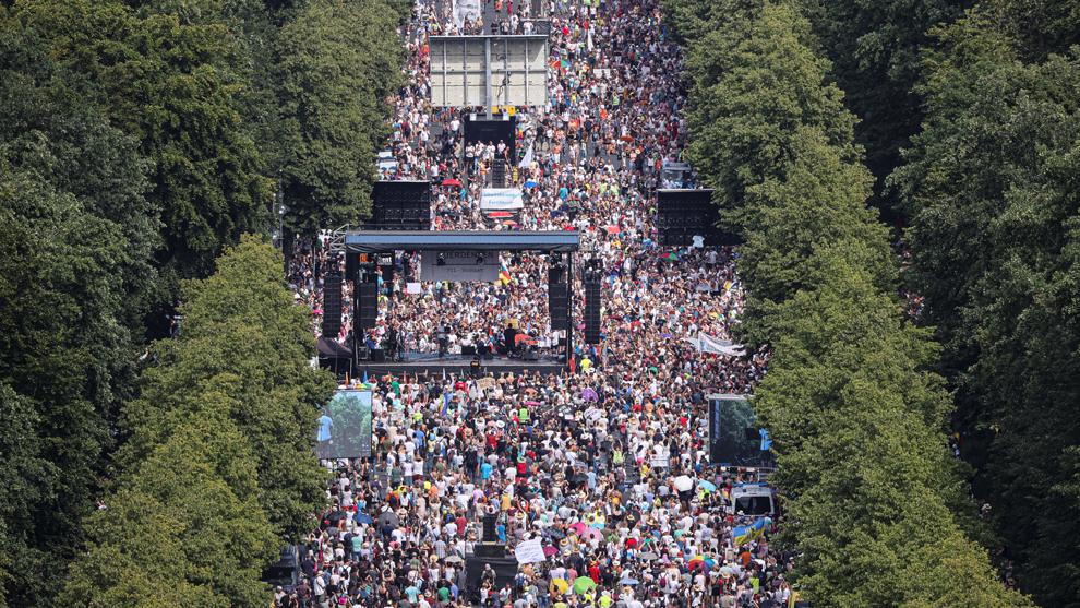 Berlín, Alemania, registró protestas contra restricciones por la...
