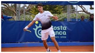 Carlos Alcaraz, en la Academia de Ferrero en el torneo de 2019