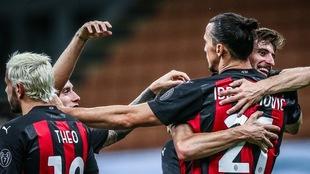 Ibrahimovic marcó en el último partido de Serie A.