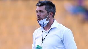 El técnico de Pachuca no se va conforme con el accionar de su equipo.