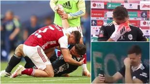 Imposible no emocionarse: tras 6 cesiones y eternas suplencias, gana la FA Cup y rompe a llorar