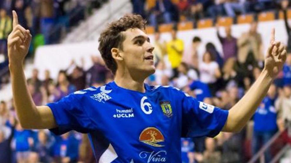 Juanan, durante un partido con su equipo. Viña Albali Valdepeñas