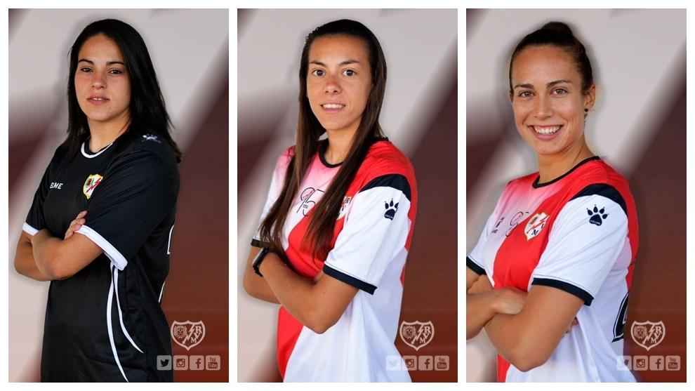 Paula Andújar, Iris Ponciano y Natalia Expósito renuevan con el Rayo femenino