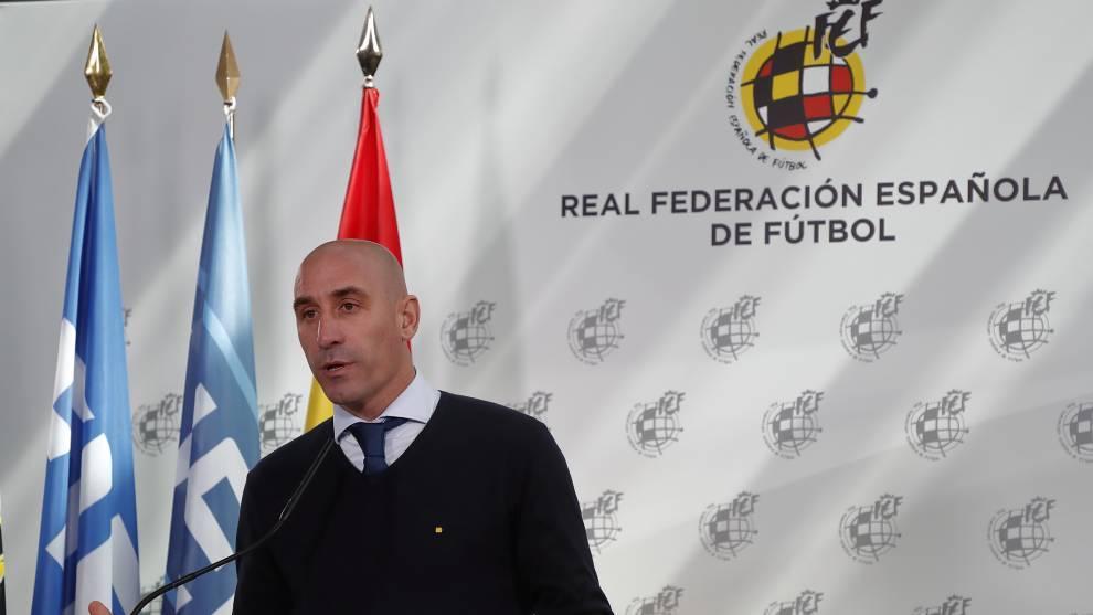 Luis Rubiales en la reunión con las federaciones autonómicas