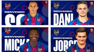 Los fichajes del Levante: Son y Dani Gómez, arriba y Malsa y De...