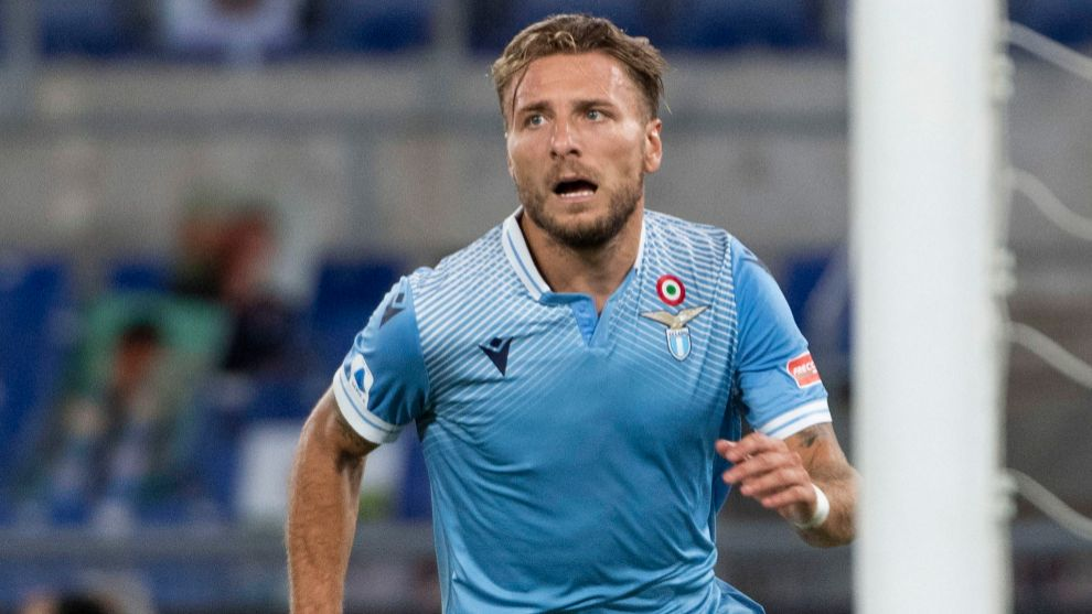 Rome (Italy), 29/07/2020.- Lazios Ciro lt;HIT gt;Immobile lt;/HIT gt; celebrates scoring the 2-0 goal during Italian Serie A soccer match between SS Lazio and Brescia Calcio at Olimpico Stadium in Rome,29 July 2020. (Italia, Roma) EFE/EPA/MAURIZIO BRAMBATTI