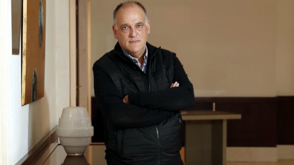 Javier Tebas, en una entrevista a MARCA