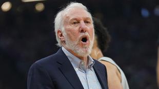 Gregg Popovich durante un partido de los San Antonio Spurs