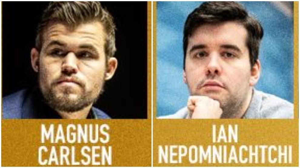 Carlsen - Nepo, primera manga de la final del Leyendas del Ajedrez en directo