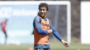 Luis Milla durante una sesión de entrenamiento con el Tenerife
