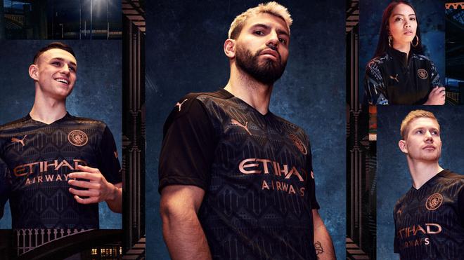 Así luce la nueva playera del Manchester City.