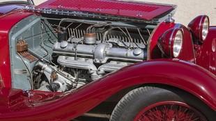 El 8C montaba el primer motor de ocho cilindros de la marca italiana.