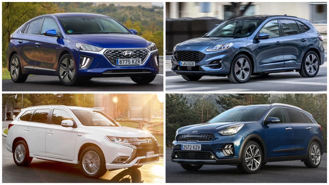 El Hyundai Ioniq, el Ford Kuga, el Mitsubishi Outlander y el Kia Niro...