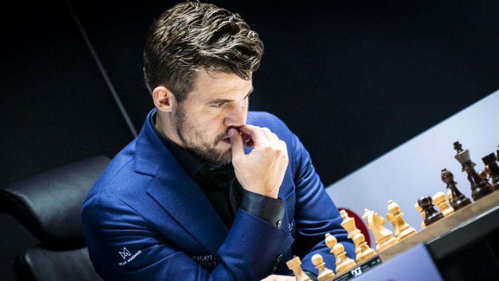 El campeón del mundo, Magnus Carlsen, en un partida