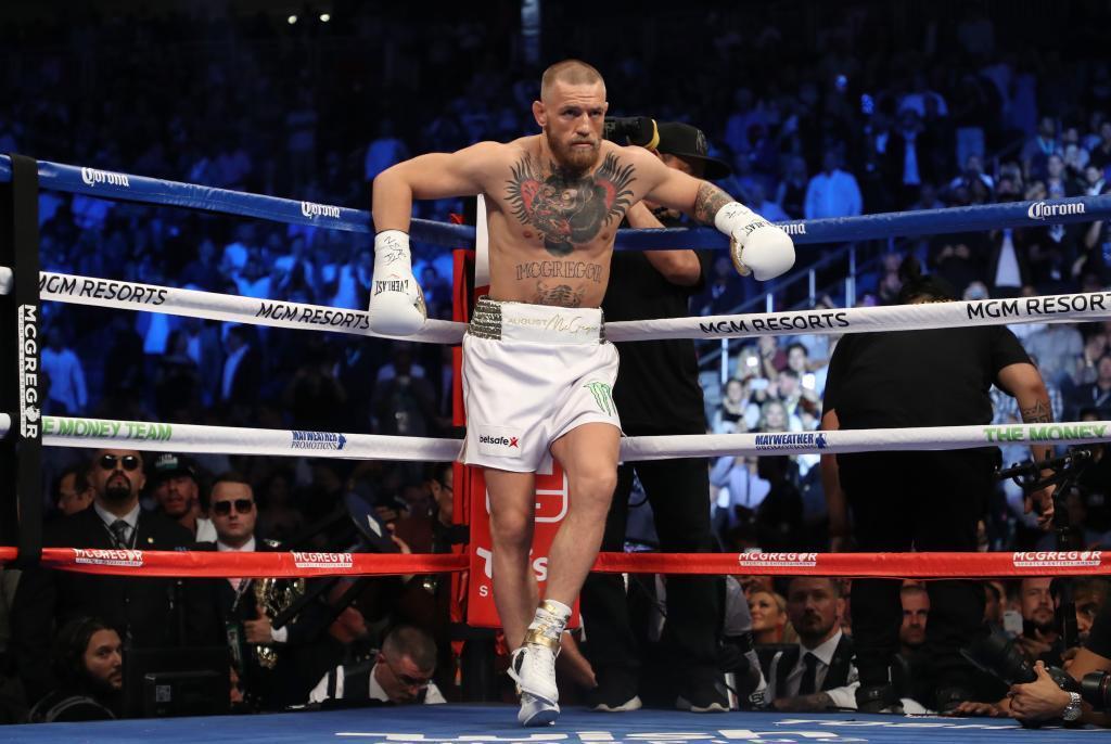 Conor McGregor, en su combate con Floyd Mayweather.