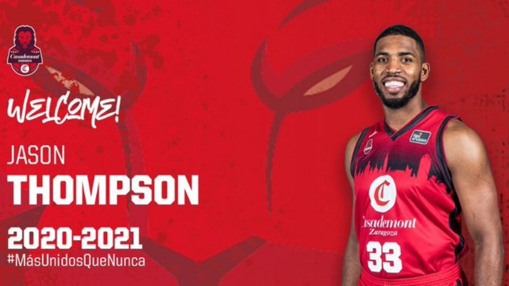 Jason Thompson vuelve al Casademont Zaragoza para aportar energía en la zona