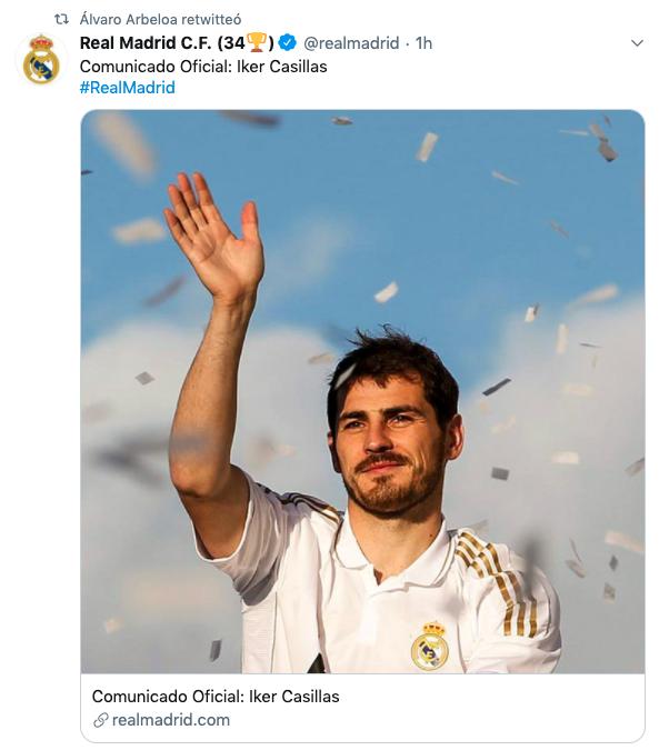 Arbeloa comparte el cariñoso comunicado del Real Madrid hacia Iker Casillas.