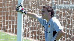 David Rangel, con el Valencia en 2004.