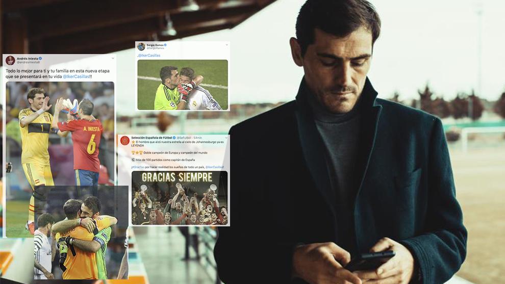 Todas las reacciones a la retirada de Iker Casillas en directo.