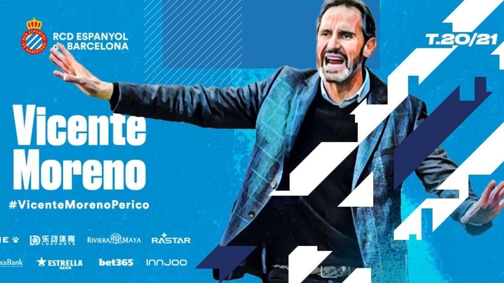 OFICIAL: Vicente Moreno, nuevo entrenador del Espanyol