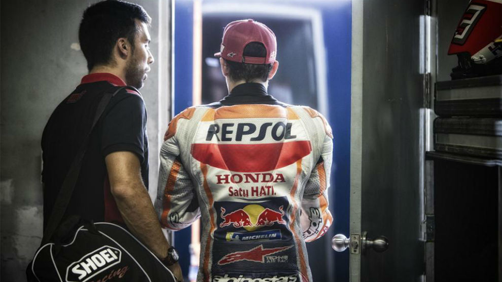 Márquez, en Jerez antes de su reaparición tras la primera...