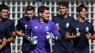 Herrera y Casillas cuando militaban en el Oporto.