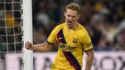 De Jong celebra un gol.