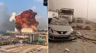 Tremenda explosión en Beirut: la onda expansiva deja un gran número de heridos