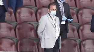 Ángel Torres durante un partido de Liga en el Coliseum
