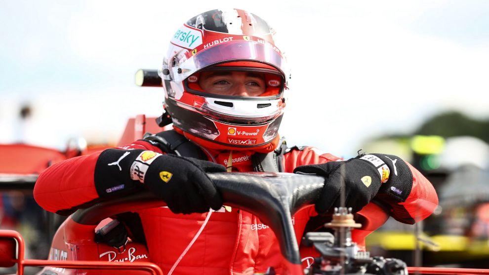 Charles Leclerc, en Silverstone.