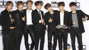 El grupo surcoreano BTS. (Foto: EFE)