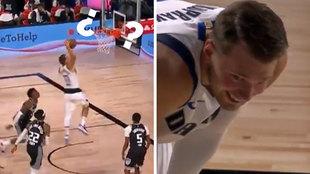 Luka Doncic también es humano... a veces: ¡falla un mate de 'juvenil' y se pone a reir!