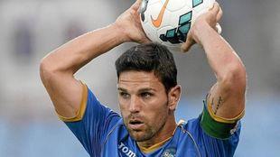 Jaime Gavilán durante un partido con el Getafe